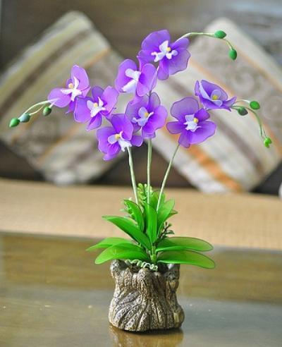 Cách làm hoa lan hồ điệp từ vải voan cực xinh